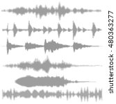 vector sound waves  set . | Shutterstock .eps vector #480363277