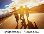 group of friends having fun and ... | Shutterstock . vector #480365263