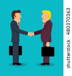 simple cartoon of businessmen... | Shutterstock .eps vector #480370363
