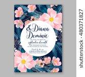 romantic pink peony bouquet... | Shutterstock .eps vector #480371827