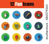 set of twelve soccer icons in...