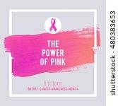 breast cancer awareness... | Shutterstock .eps vector #480383653