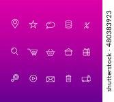 thin lines web icons set