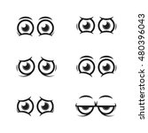 set of cartoon eyes | Shutterstock .eps vector #480396043