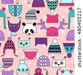 children's hats. cute vector... | Shutterstock .eps vector #480405217