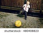 Cute Little Boy Playing...