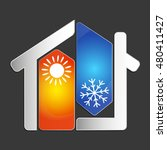 air conditioning at home for...   Shutterstock .eps vector #480411427