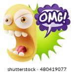 3d rendering angry character... | Shutterstock . vector #480419077