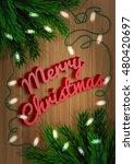 merry christmas. fir tree...   Shutterstock .eps vector #480420697