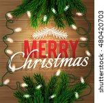 merry christmas. fir tree...   Shutterstock .eps vector #480420703