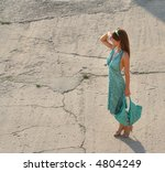 a beautiful girl is standing... | Shutterstock . vector #4804249