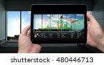 industry 4.0 concept .man hand...   Shutterstock . vector #480446713
