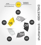 yellow infographic circle with... | Shutterstock .eps vector #480457843