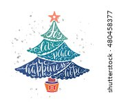 christmas tree greeting card... | Shutterstock .eps vector #480458377