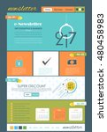 vector colorful e newsletter...