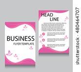 vector brochure flyer design... | Shutterstock .eps vector #480464707