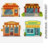 market  street shop  cafe... | Shutterstock .eps vector #480466207