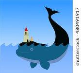 illustration of a lighthouse... | Shutterstock .eps vector #480491917