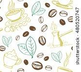 Coffee Seamless Pattern. Hand...