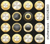 collection of gold and black... | Shutterstock .eps vector #480528283