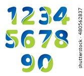 numbers 1 2 3 4 5 6 7 8 9 0... | Shutterstock .eps vector #480562837