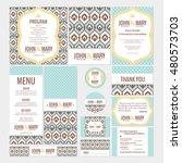 set of wedding cards vector... | Shutterstock .eps vector #480573703