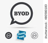 byod sign icon. bring your own... | Shutterstock .eps vector #480580183