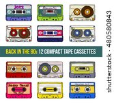 vector set of compact tape... | Shutterstock .eps vector #480580843