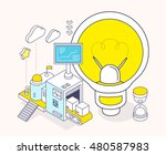vector illustration of light... | Shutterstock .eps vector #480587983