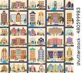 set 1 of buildings in style... | Shutterstock .eps vector #480599983