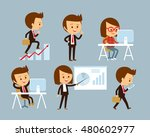 office workers at the flat style | Shutterstock .eps vector #480602977