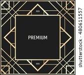 vector geometric frame in art... | Shutterstock .eps vector #480611557