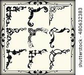 vintage design elements corners | Shutterstock .eps vector #480632383