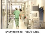 doctor using scrubs walking at... | Shutterstock . vector #48064288
