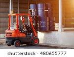 forklift truck oil truck | Shutterstock . vector #480655777