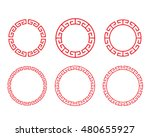 classic chinese red circle... | Shutterstock .eps vector #480655927