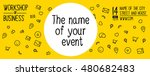 banner design for event ... | Shutterstock .eps vector #480682483
