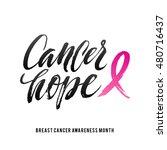 cancer hope. vector breast... | Shutterstock .eps vector #480716437