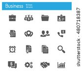 business icons vector flat   Shutterstock .eps vector #480718387