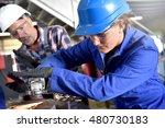 metalwork student girl training ... | Shutterstock . vector #480730183