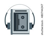 audio cassette player. retro...   Shutterstock .eps vector #480744247