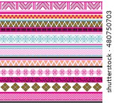 tribal seamless pattern.... | Shutterstock .eps vector #480750703