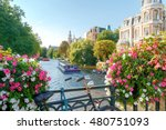 Stock photo amsterdam old city canal 480751093
