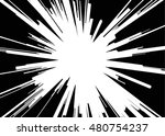 comic explosion. graphic radial ... | Shutterstock .eps vector #480754237