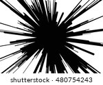 comic explosion. graphic radial ... | Shutterstock .eps vector #480754243