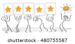 customer satisfaction   vector... | Shutterstock .eps vector #480755587