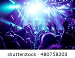 crowd raising their hands and... | Shutterstock . vector #480758203