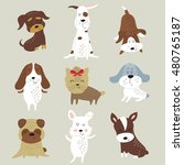 vector set of cute dogs in... | Shutterstock .eps vector #480765187