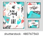 hand drawn vector abstract... | Shutterstock .eps vector #480767563