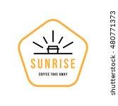 sunrise coffee to go take away... | Shutterstock .eps vector #480771373